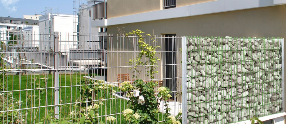 clotures mur en gabion pose de cl tures portails barri res aix marseille cloturaix. Black Bedroom Furniture Sets. Home Design Ideas