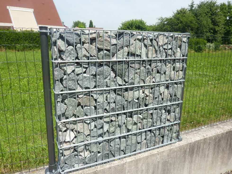 clotures mur en gabion pose de cl tures portails barri res aix marseille cloturaix. Black Bedroom Furniture Sets. Home Design Ideas