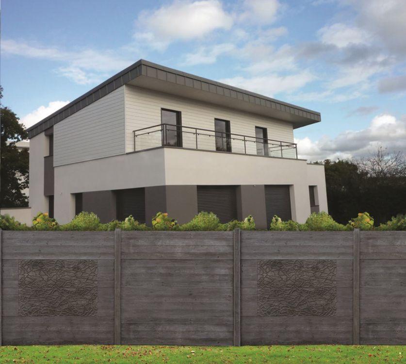 clotures en panneaux de beton imitation bois portails automatiques et cl tures aix en provence. Black Bedroom Furniture Sets. Home Design Ideas