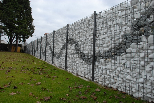 CLOTURE MUR GABION